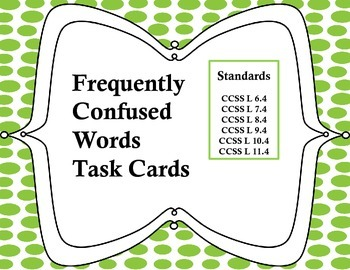 Frequently Confused Task Cards
