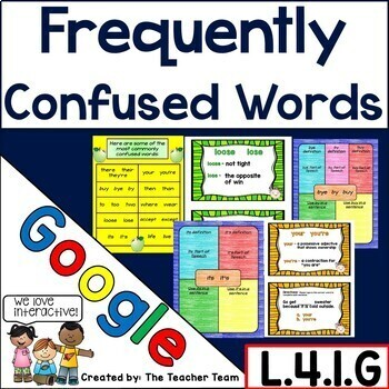 Frequently Confused Words Interactive Notebook Google Drive Activities
