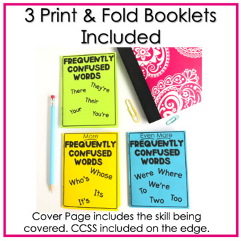 Frequently Confused Words No Prep Fold and Go Interactive Notebook Booklets