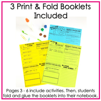 Frequently Confused Words No Cut, Print & Fold Interactive Notebook Booklets