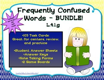 Frequently Confused Words Task Card Bundle L.4.1.g