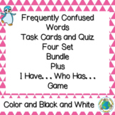 Frequently Confused Homophones Task Cards, Quizzes, and Ga