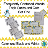 Frequently Confused Homophones Task Cards and Quiz Set One