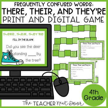 Frequently Confused Words: There, Their, and They're Game Center Activity