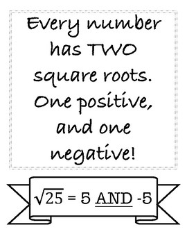 Frequently Forgotten Math Rules Posters
