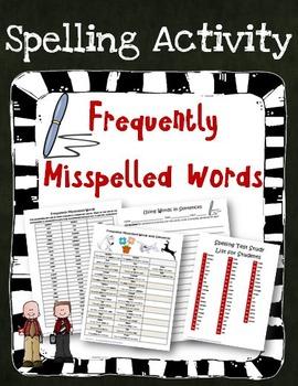 Frequently Misspelled Words Activities