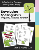 Frequently Misspelled Words List - Individualized Spelling