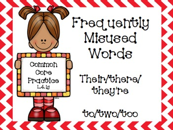 Frequently Confused Words Powerpoint and Practice- L.4.1g