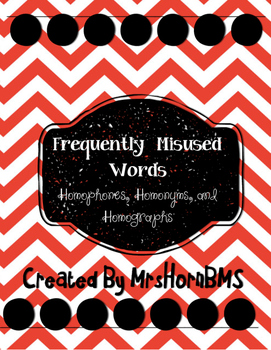 Frequently Misused Words Task Cards