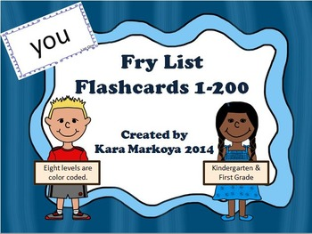 Fry List 1-200 Flashcards