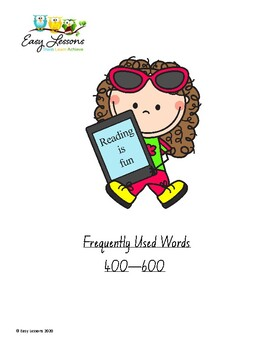 Frequently Used Word lists - 400 - 600