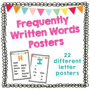 Frequently Written Words Posters – Great for Self Advocacy Spelling