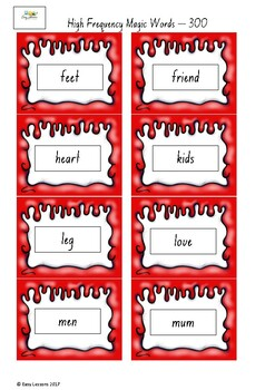Frequently used word lists - Flash cards - short time - 300