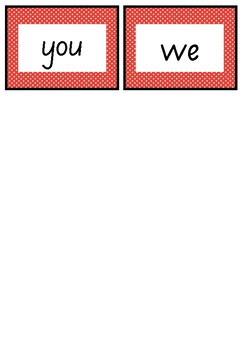 Frequently used word lists - Flashcards - Red