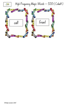 Frequently used word lists - Flashcards - Short time - Cobalt