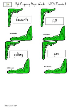 Frequently used word lists - Flashcards - Short time - Emerald