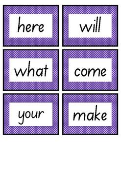 Frequently used word lists flashcards - Indigo
