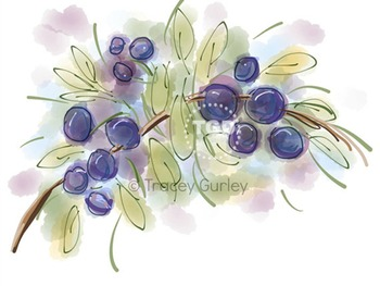 Fresh Berries, berry clip art, berry Printable Tracey Gurley Designs