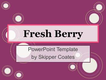 Fresh Berry--PowerPoint Template