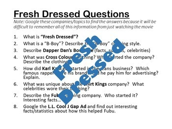 Fresh Dressed Movie Questions