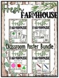 Fresh Farmhouse | Classroom Décor Poster Bundle | Rustic W