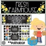 Fresh Farmhouse EDITABLE and PRINT AND GO Job Chart