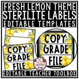 Lemon Classroom Decor: Teacher Mailbox, 3 Drawer Sterilite Labels Editable