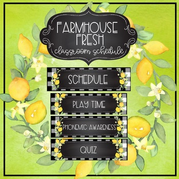 Farmhouse Fresh  EDITABLE Schedule Cards and Time Cards