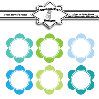 Fresh Flower Frames Clip Art