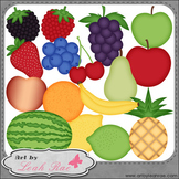 Fresh Fruit 1 - Art by Leah Rae Clip Art & Line Art / Digi