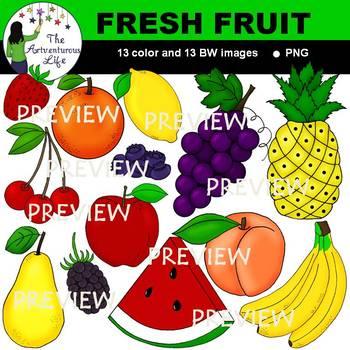 Fresh Fruit Clip Art