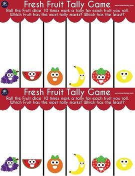 Fresh Fruit Games Printable Pack