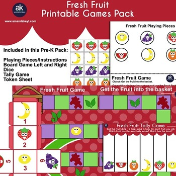 Fresh Fruit Games Printable Pack