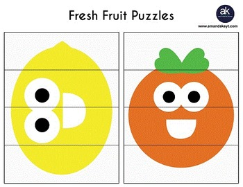 Fresh Fruit Math and Crafts Printable Pack