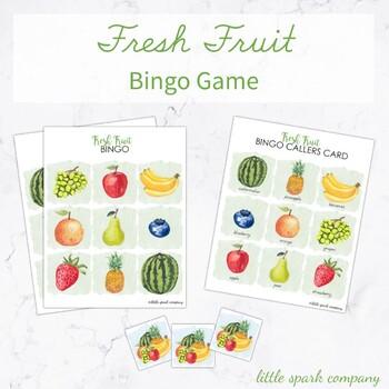 Fresh Fruit Preschool Bingo Game