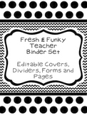 Fresh & Funky Teacher Binder Set (Everything You Need for Organization)