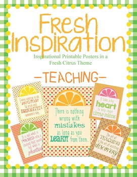 Fresh Inspiration Poster Collection ~ Teaching