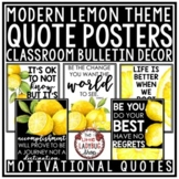 Lemon Classroom Decor: Modern Farmhouse Inspirational Quot