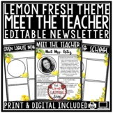 Lemon Theme Welcome Back to School Letters Editable: Virtual Meet The Teacher
