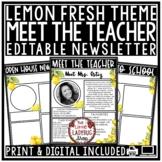 Lemon Theme Welcome Back to School Letters Editable: Virtu