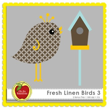 Fresh Linen Birds 3 {Graphics for Commercial Use}