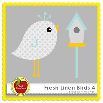 Fresh Linen Birds 4 {Graphics for Commercial Use}
