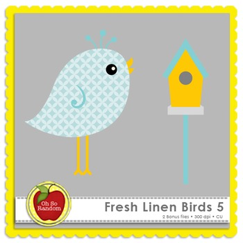 Fresh Linen Birds 5 {Graphics for Commercial Use}