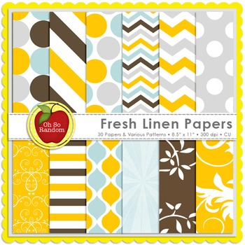 Fresh Linen {Papers for Commercial Use}