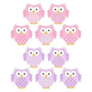Fresh Pink & Purple Owl Vectors & Papers - Owl Clipart, Owl Clip Art, Baby Owls