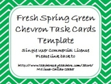 Fresh Spring Green Chevron Task Card/Scoot Card Templates