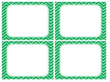 Fresh Spring Green Chevron Task Card/Scoot Card Templates