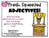 Fresh Squeezed Adjectives- Low-Prep Game for Number, Size,