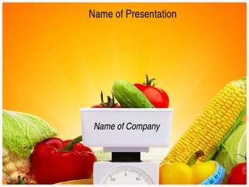 Fresh Vegetable PPT Template