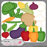 Fresh Vegetables 1 - Art by Leah Rae Clip Art & Line Art /